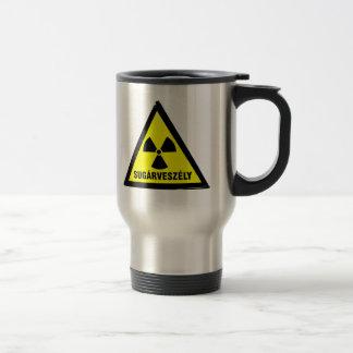 Radioactive danger stainless steel travel mug