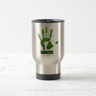 Radioactive Hand Print Stainless Steel Travel Mug
