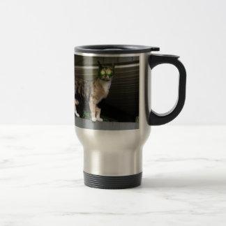 Radioactive kitty stainless steel travel mug