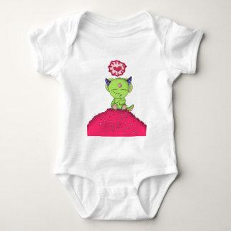 Radioactive Luv Monster Digital Art Baby Bodysuit