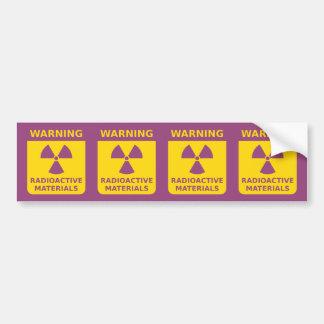 Radioactive Materials Warning Sticker Strip Bumper Sticker