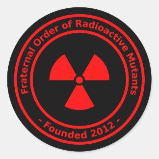 Radioactive Mutants Sticker (red)