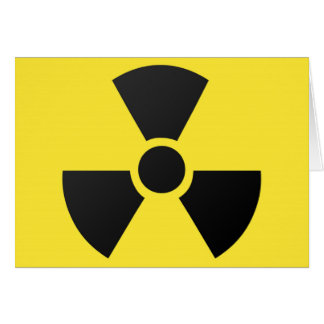 Radioactive radiation nuclear atomic symbol greeting cards