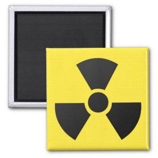 Radioactive radiation nuclear atomic symbol magnet