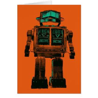 Radioactive Robot Rebellion Greeting Card