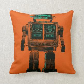 Radioactive Robot Rebellion Cushion