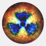 radioactive round sticker