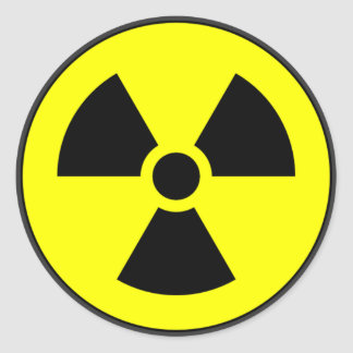 Radioactive Round Sticker