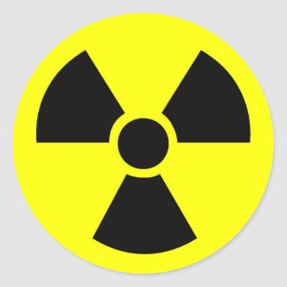 Radioactive Round Stickers