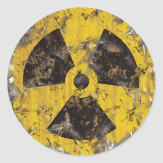Radioactive Rusted Round Stickers