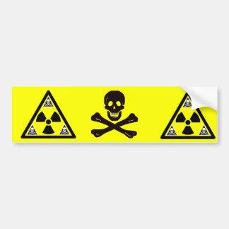 Radioactive Scull & Crossbones Bumper Sticker