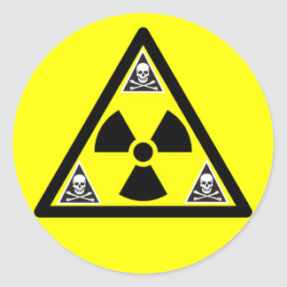 Radioactive Scull & Crossbones Stickers