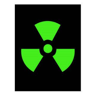Radioactive-sign40 radioactive, atom, atomic, nucl postcard