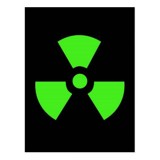 Radioactive-sign40 radioactive, atom, atomic, nucl post cards