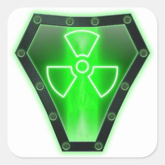 Radioactive Square Sticker