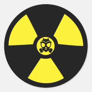 Radioactive Symbol Classic Round Sticker