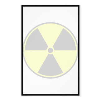 Radioactive Symbol Personalized Stationery