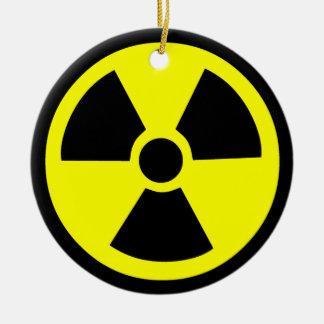 Radioactive Symbol Round Ceramic Decoration
