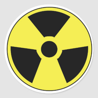 Radioactive Symbol Round Sticker