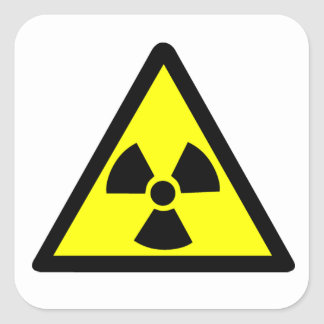 Radioactive Symbol Square Sticker