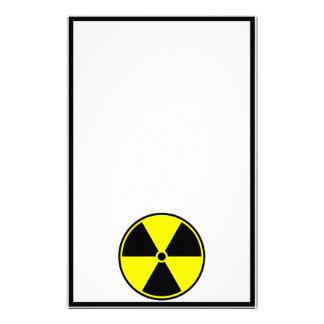 Radioactive Symbol Stationery Paper