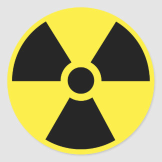 Radioactive Symbol Sticker