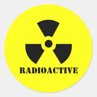 RADIOACTIVE Symbol Warning Label Halloween Props