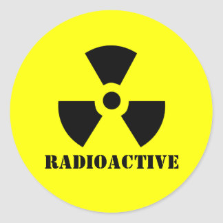 RADIOACTIVE Symbol Warning Label Halloween Props Round Sticker