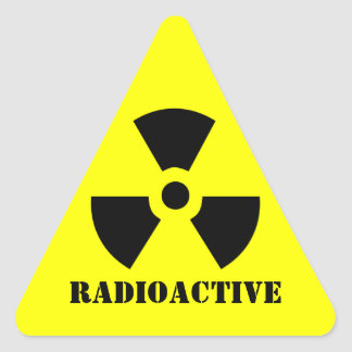RADIOACTIVE Symbol Warning Label Halloween Props Triangle Sticker