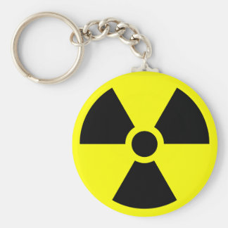 Radioactive warning keychain