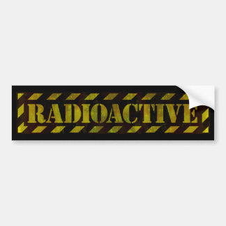 Radioactive Warning Sign - Bumper Sticker