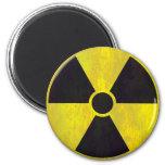 Radioactive Warning Sign | Cool Grunge 6 Cm Round Magnet