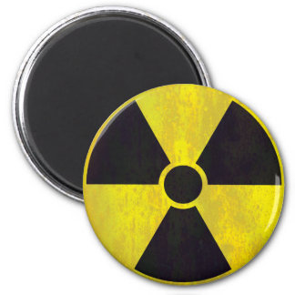 Radioactive Warning Sign | Cool Grunge Magnet