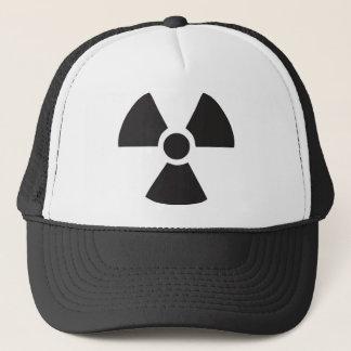 radioactive warning sign trucker hat