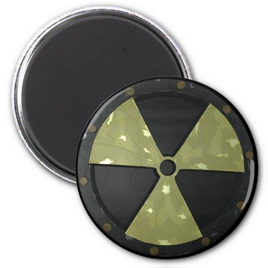 Radioactive Warning Symbol 6 Cm Round Magnet