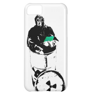 Radioactive Waste Barrel Gas Mask Man iPhone 5C Case