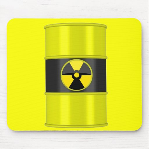 radioactive waste mouse pads