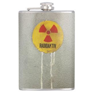 radioactively contaminates hip flask