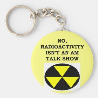 RADIOACTIVITY.png Basic Round Button Key Ring