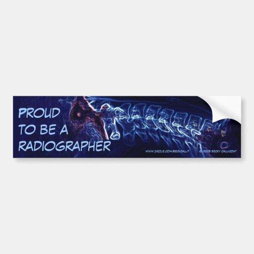 Radiographer bumper sticker (blue c-spine)