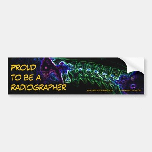 Radiographer bumper sticker (multi-color c-spine)