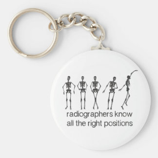 Radiographers Know All The Right Positions Key Ring