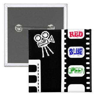 Radiohead - Videotape - Red, Blue, Green 15 Cm Square Badge