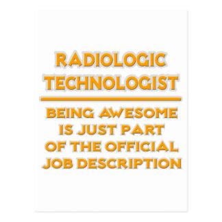 Radiologic Technologist .. Job Description Postcard