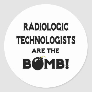 Radiologic Technologists Are The Bomb! Round Sticker
