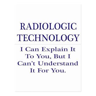 Radiologic Technology .. Explain Not Understand Postcard
