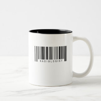 Radiologist Barcode Two-Tone Coffee Mug
