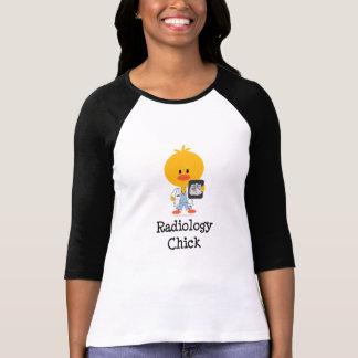 Radiology Chick Raglan Shirt  T Shirt