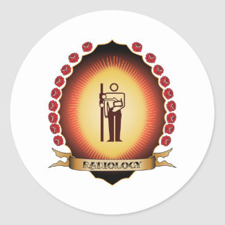 Radiology Mandorla Round Sticker