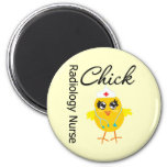 Radiology Nurse Chick v1 6 Cm Round Magnet